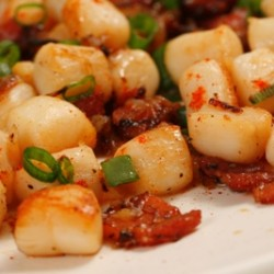 Calico Scallops with Bacon