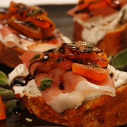 Prosciutto Goat Cheese Croustinis