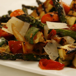 Grilled Vegetable Salad with Roasted Tomato Dressing