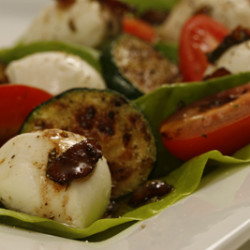Natural Pastures Bocconcini Salad with Pancetta Viniagrette