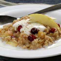 Cranberry Apple Oatmeal