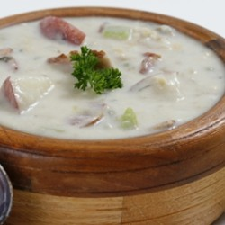 White Victoria Clam Chowder