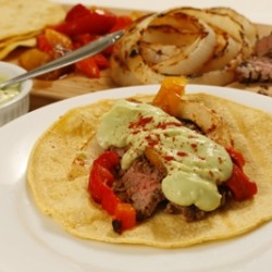 Marinated Flank Steak Fajitas