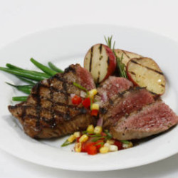 Top Sirloin Steak with Fresh Tomato Corn Salsa