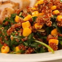 Wilted Arugula and Quinoa Salad