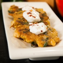 Chard Chickpea Fritters