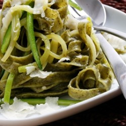Hidden Zucchini and Spinach Fettucini