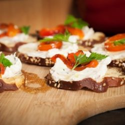Whipped Goat Cheese Crostini
