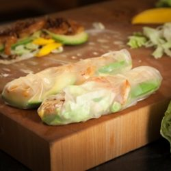 Mango Shrimp and Avocado Salad Rolls