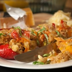 Cashew and Quinoa Stuffed Peppers