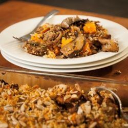 Roasted Yam and Mushroom Stuffing