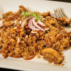 Roasted Mushroom and Pecan Quinoa