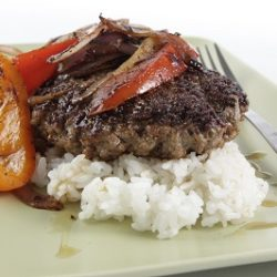Salisbury Steak with Balsamic Peppers and Onions